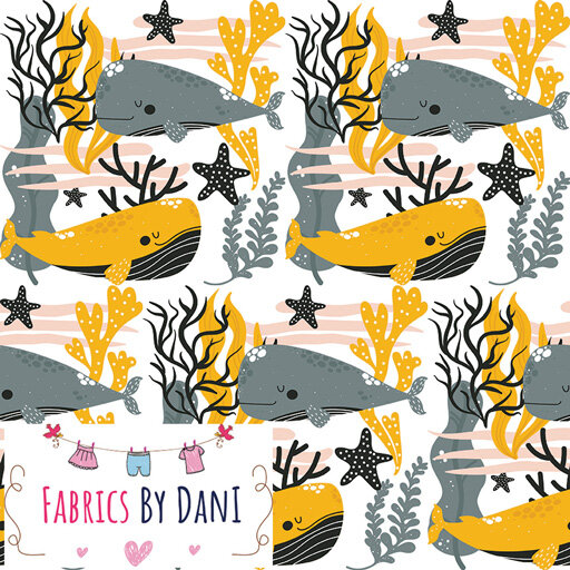 Whales Fabric