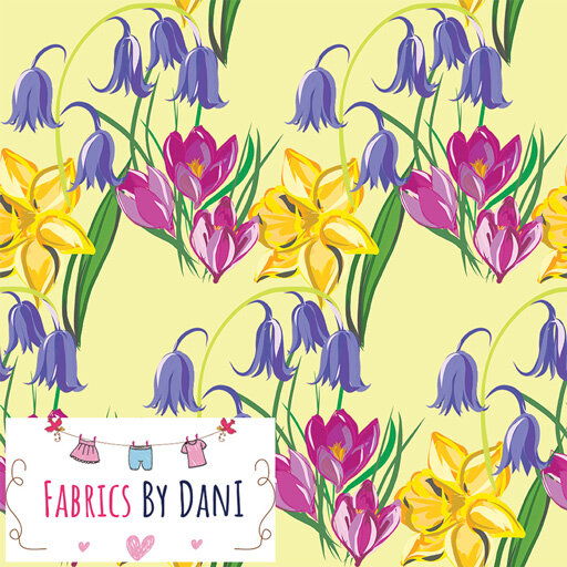 Spring Flowers Fabric