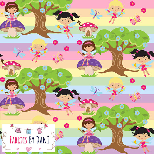 Forest Fairies Fabric
