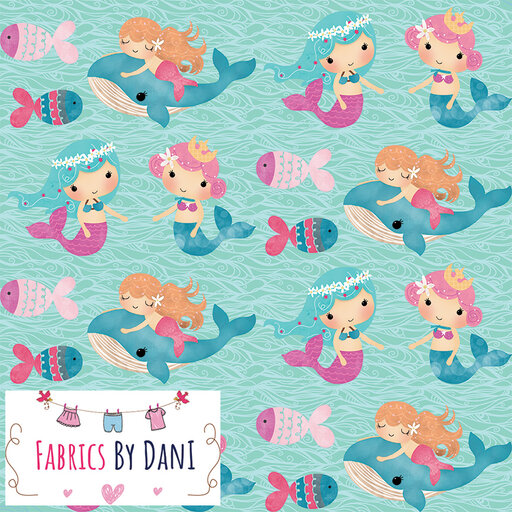 Mermaids Fabric