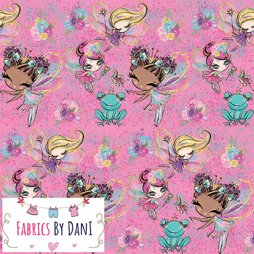 The Fairy and The Frog Fabric