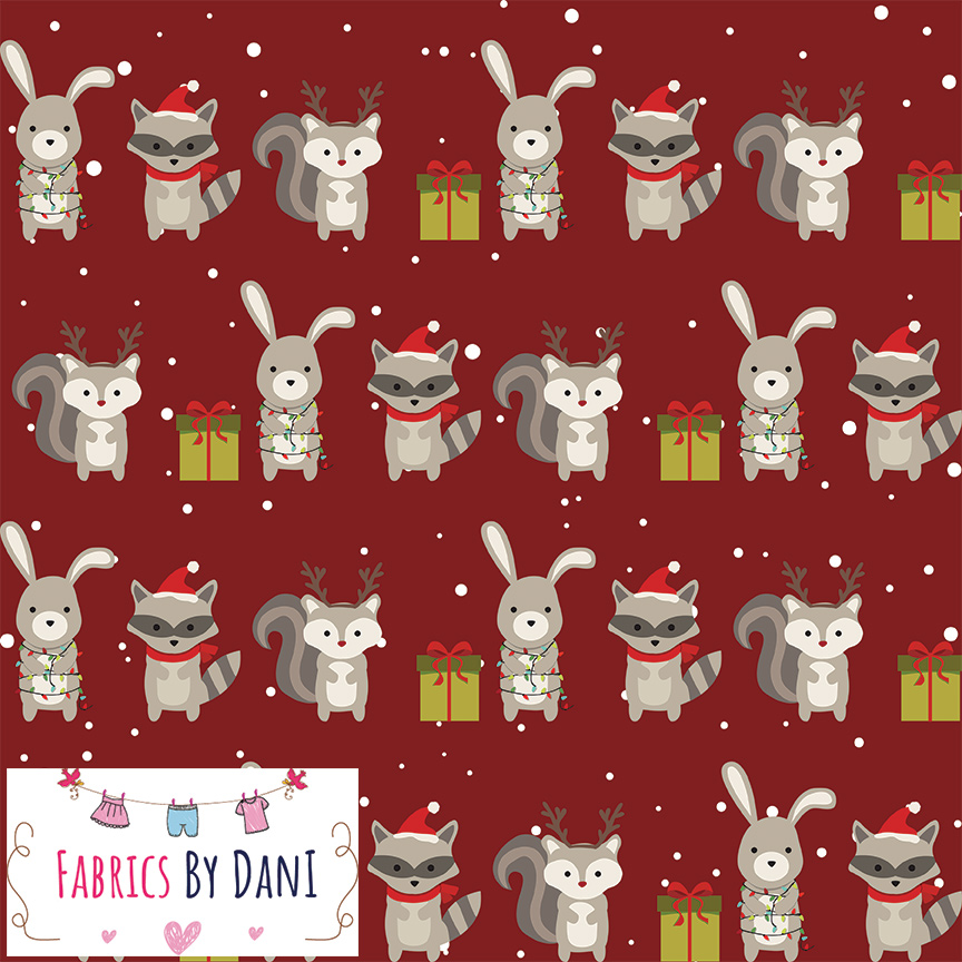 Woodland Christmas Fabric