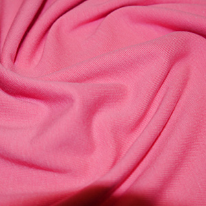 Pink Cotton Lycra Jersey Fabric