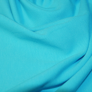 Turquoise Cotton Lycra Jersey Fabric